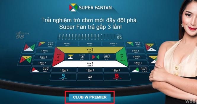 Hướng đẫn cách chơi Super Fantan online tại nhà cái casino W88
