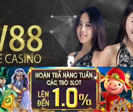 Hoàn trả các trò slot lên đến 1.0% tại nhà cái w88
