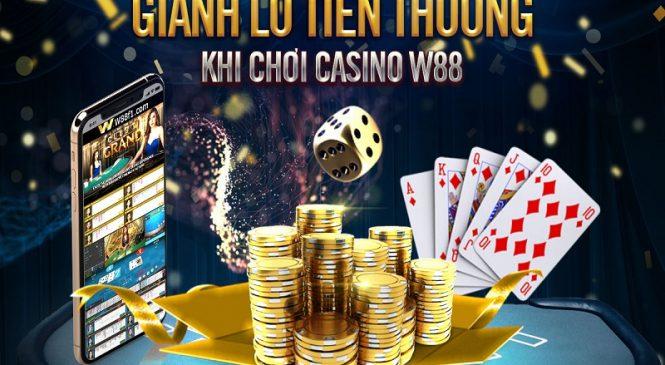 Rinh tiền thưởng mỗi ngày khi chơi casino tại nhà cái w88