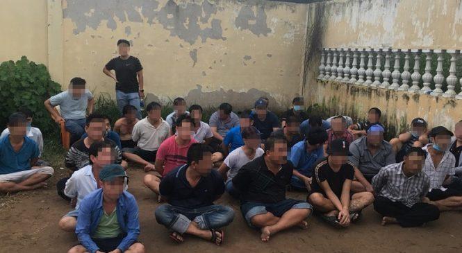 Bắt 39 người đánh bạc và tổ chức đánh bạc ở quận Bình Tân