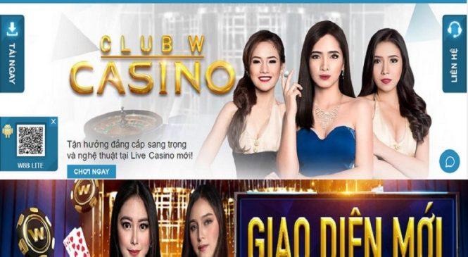 Thăng hoa nhận thưởng cùng casino club w tại nhà cái w88